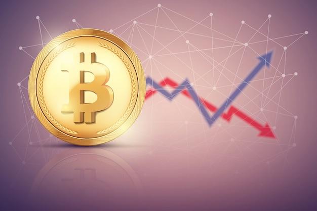 Фон биржевой торговли биткойнами