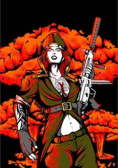 Иллюстрация мультипликационный персонаж супер герой