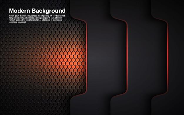 Иллюстрация векторная графика абстрактного фона оранжевый размер на черном современном