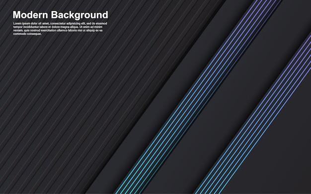 Иллюстрация векторная графика абстрактного фона черного цвета и синей линии