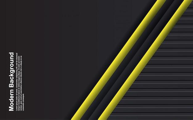 抽象的な背景の黒と黄色の色のイラスト