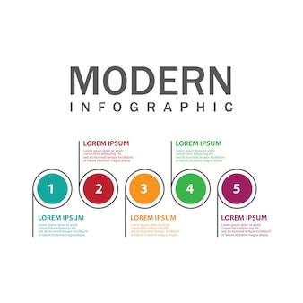 ダイアグラムの現代インフォグラフィック