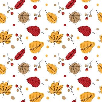 かわいい秋のシームレスパターン
