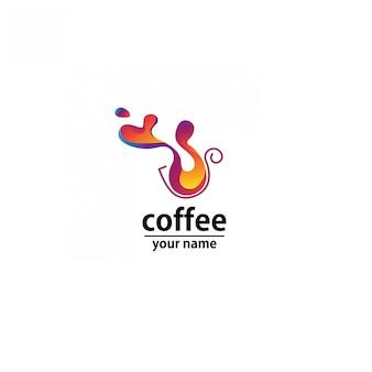 Логотип кафе волна аннотация красочный