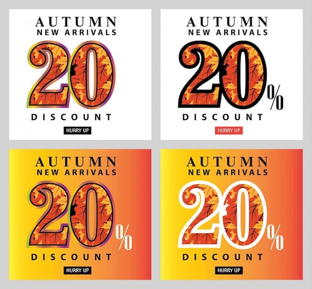 Осенняя распродажа карты и набора ярлыков