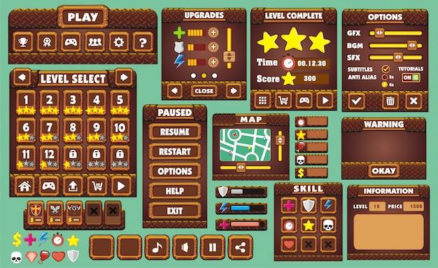 Полный набор графических пользовательских интерфейсов для создания игр и приложений