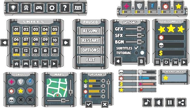 プラットフォームゲームユーザーインターフェイス