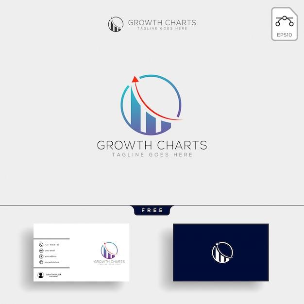 経理、財務のクリエイティブなロゴのテンプレート