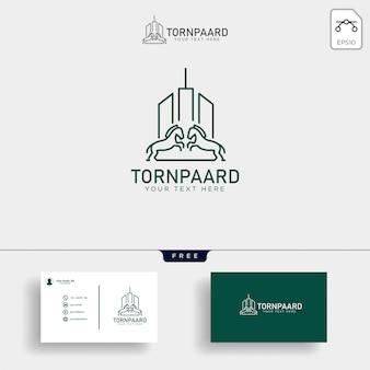馬の金融、保険の創造的なロゴのテンプレートベクトルイラスト