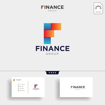 会計と金融のロゴのテンプレートベクトルイラスト