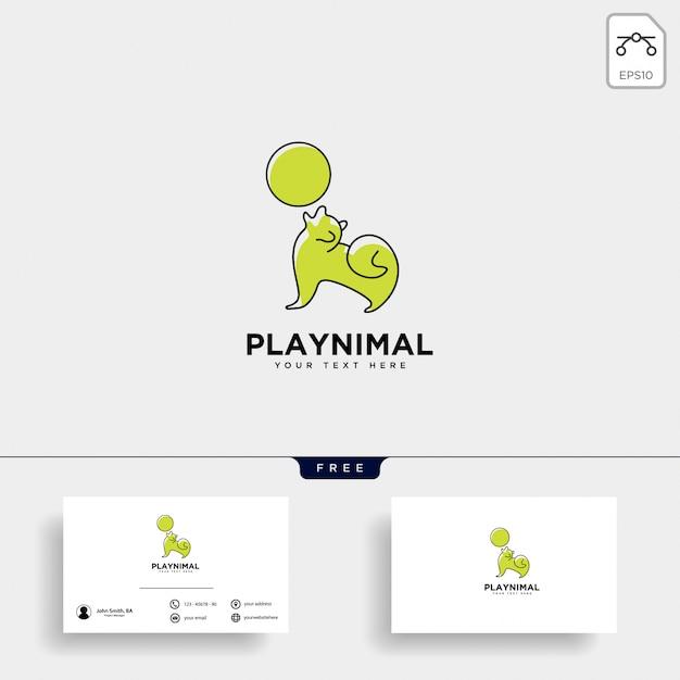 ペット動物の世話コンサルティングのロゴのテンプレート