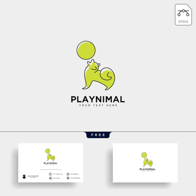 Шаблон логотипа консультации по уходу за домашними животными