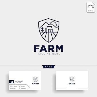 ファームのロゴと名刺のテンプレート