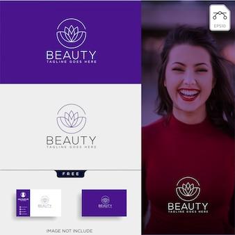 美容化粧品ラインアートロゴベクトルアイコン要素