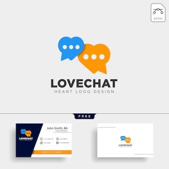 愛チャットシンプルな創造的なロゴのベクトルのアイコンの分離