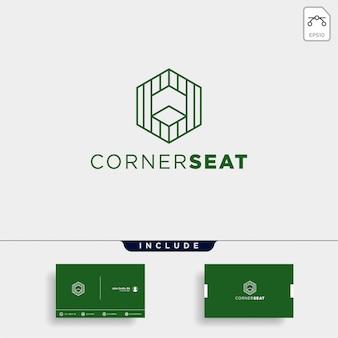 Абстрактный линейный дизайн логотипа и шаблон визитной карточки