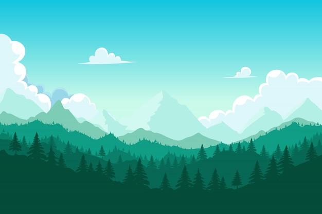 Лес и гора