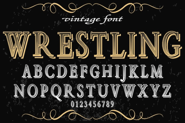 Шрифт дизайн этикетки борьба