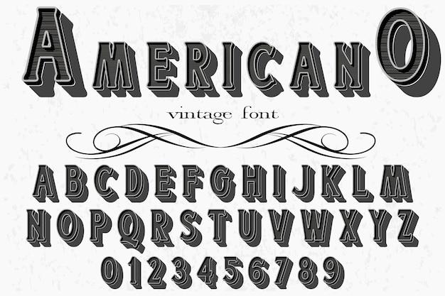 レトロな書体ラベルデザインアメリカ