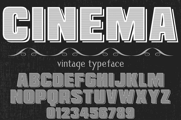 Шрифт ручной работы дизайн шрифта кино