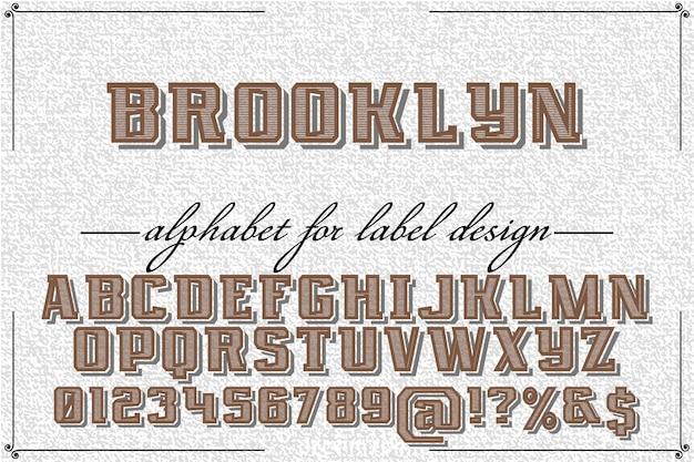 フォントのグラフィックスタイルブルックリン