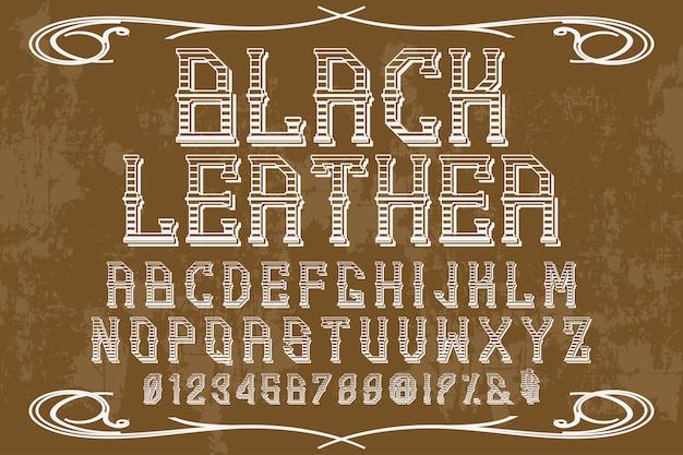 Алфавит графический стиль черный
