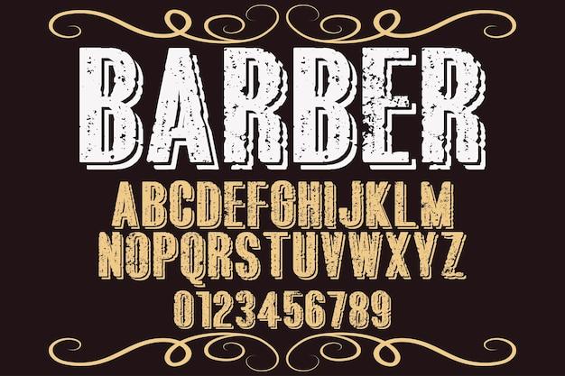 Типография дизайн шрифта парикмахерская