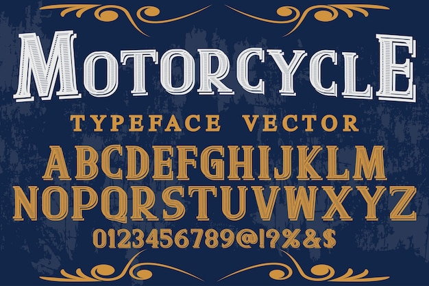 タイポグラフィシャドウ効果タイポグラフィフォントデザインオートバイ