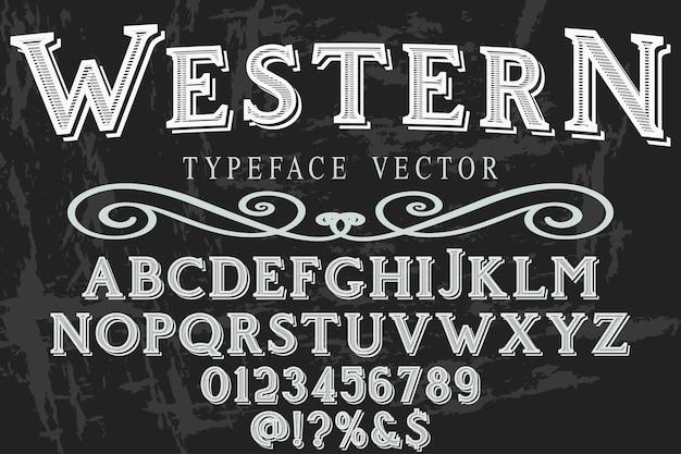 Шрифт надписи вестерн