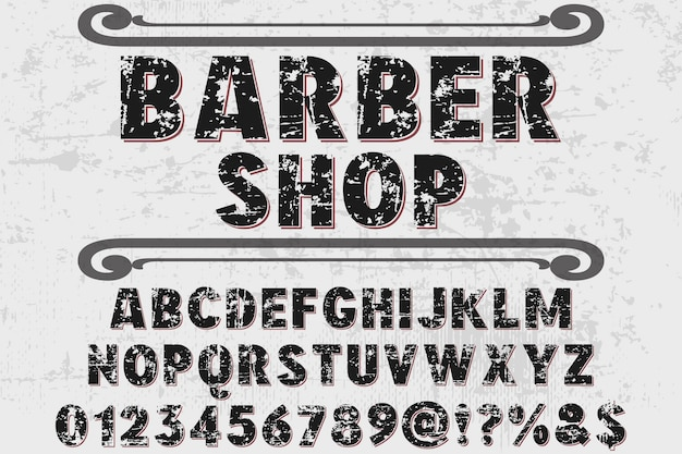 Шрифт типография дизайн парикмахерская