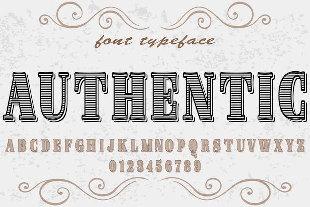 本格的な名前のビンテージフォント手作りベクトル