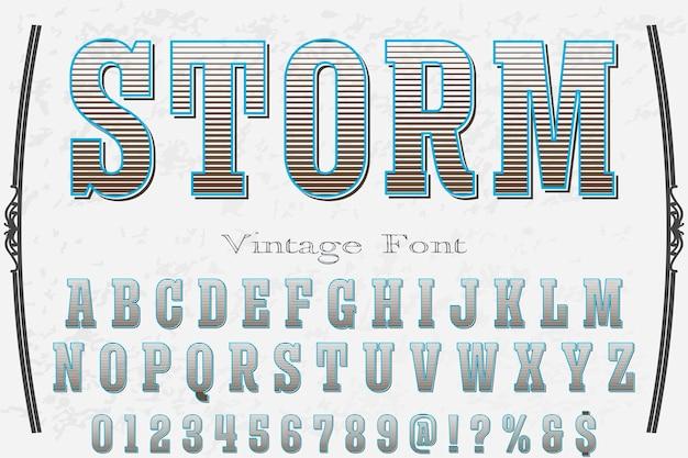 Буря алфавит шрифт иллюстрации