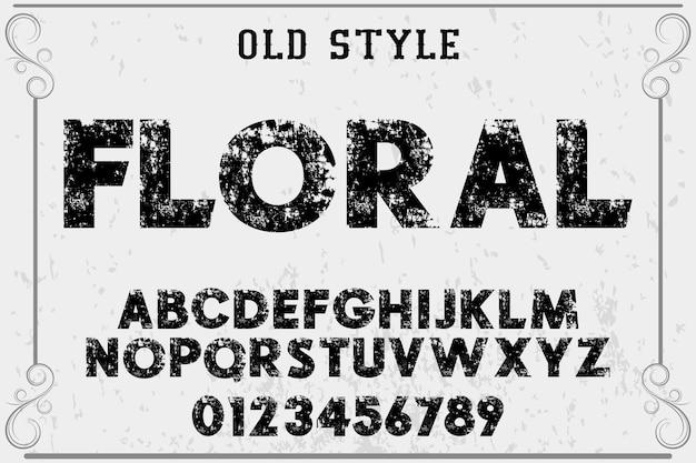 フォントの花とラベルのデザイン