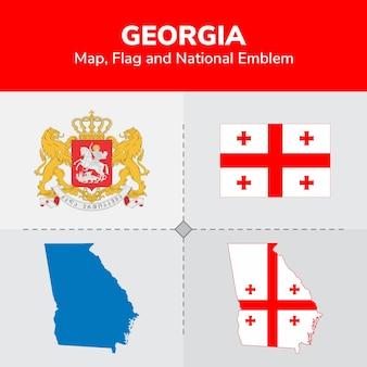ジョージア州地図、国旗