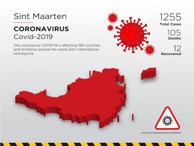 Зараженный шаблон дизайна страны заболевания коронавирусом
