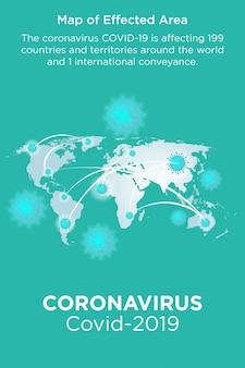 コロナウイルス病の予防と症状-チラシテンプレート