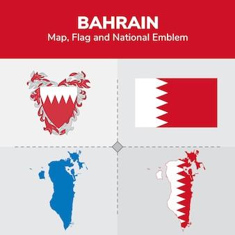 Бахрейн карта флаг и национальный герб