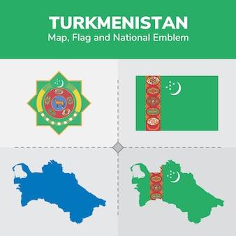 トルクメニスタンマップ、国旗