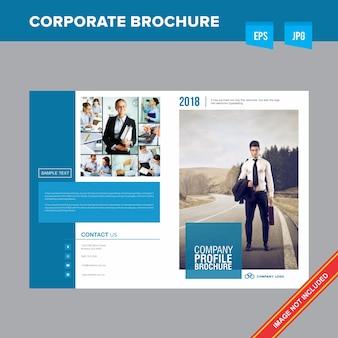 企業の仕事と雇用会社のパンフレットテンプレート
