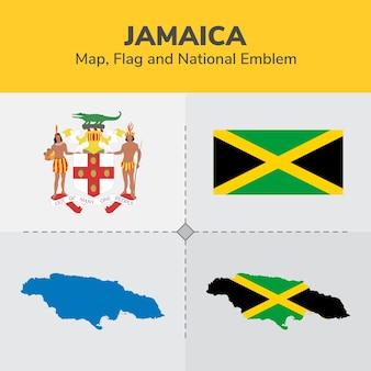 ジャマイカ地図、国旗