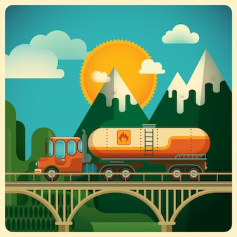 Иллюстрация грузового транспорта