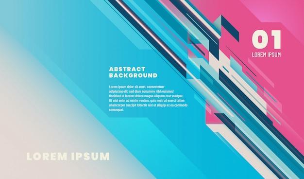テキストテンプレートとストライプの幾何学的なデザインと抽象的な背景。