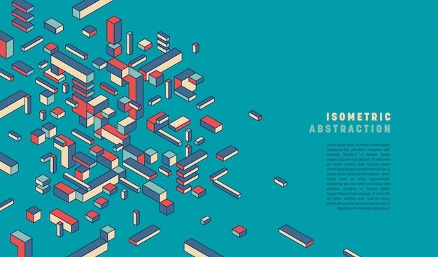 Геометрический стиль абстрактный фон с текстовым шаблоном