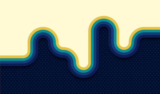 Абстрактный ретро фон с закругленными полосатыми элементами.