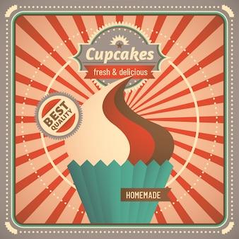 カップケーキの背景デザイン