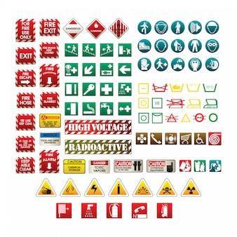 Набор различных знаков