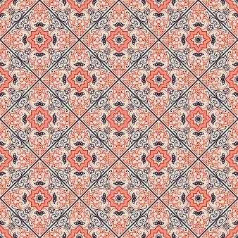 タラベラタイル。活気のあるメキシコのシームレスなパターン、
