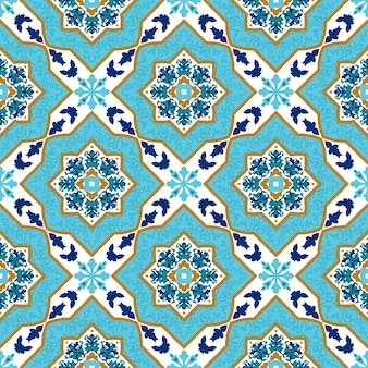 Португальский азулехо. белые и синие узоры.
