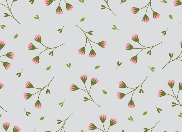 熱帯の花のシームレスパターン春