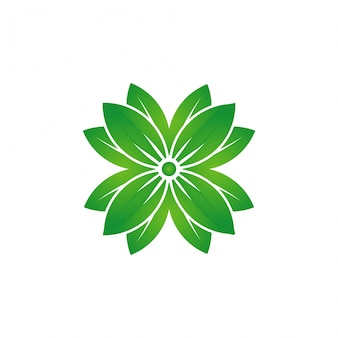 グリーンフラワーロゴテンプレート